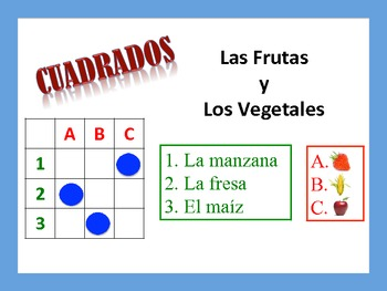 Spanish Fruits and Vegetables Activities; Do Now, Fast Fin