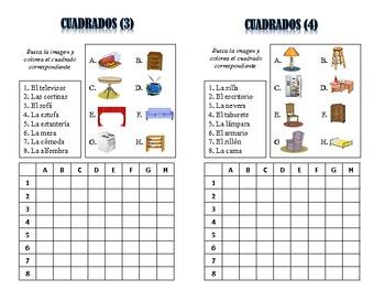 Spanish Furniture Activities; Do Now, Fast Finisher, Homework