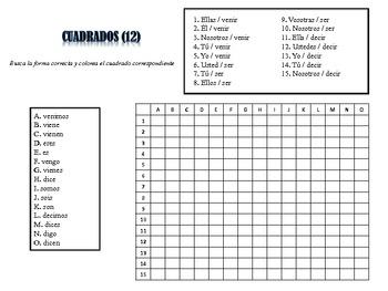 Spanish Irregular Verb Activities; Do Now, Fast Finisher, Homework