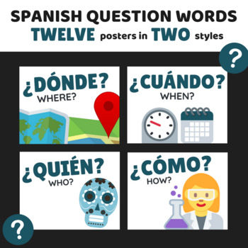 12 Spanish Question Word Posters