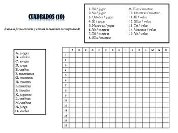 Spanish Stem-Changing Activities; Do Now, Fast Finisher, Homework