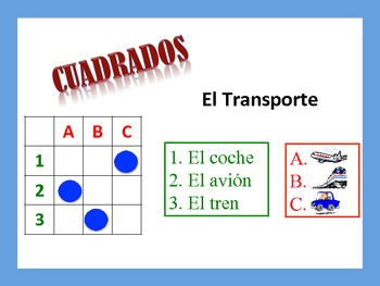 Spanish Transportation Activities; Do Now, Fast Finisher,