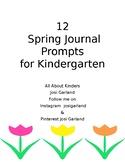 12 Spring Journal Prompts for Kindergarten