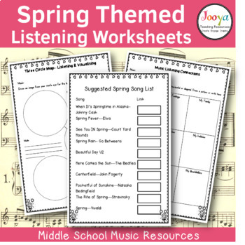 12 Spring Themed Listening Activities