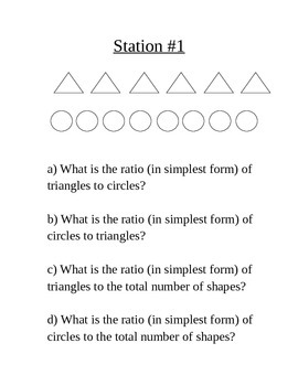 12 Stations on Ratios, Rates, Unit Rates, and Unit Costs