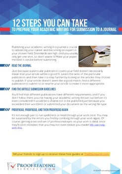 12 Steps to Prepare Your Academic Writing for Submission to a Journal