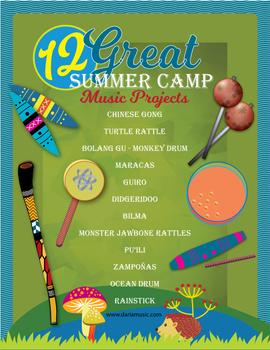 12 Summer Camp Music Crafts