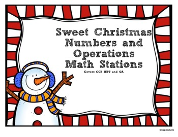 12 Sweet Christmas Math Stations - Numbers/Operations Comm