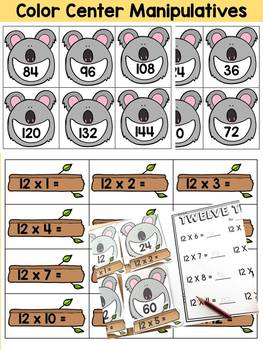12 TIMES TABLES CENTER ACTIVITY: MULTIPLICATION