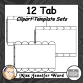 12 Tabs : Book Clipart Sets