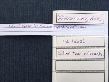 12- Tab Vocabulary Fill-A-Fold