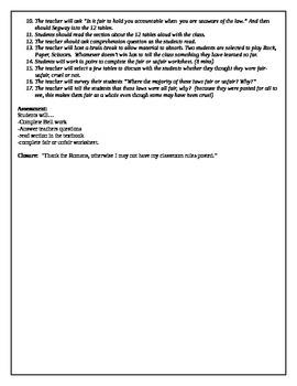 12 Tables lesson plan