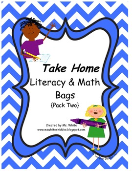 12 Take Home Literacy & Math Themed Bags {Pack Two}