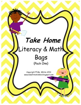 12 Take Home Themed Literacy & Math Bags {Pack One}