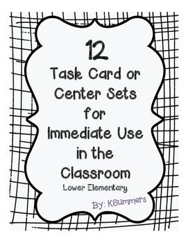 12 Task Card/Center Sets for Immediate Use - Grammar
