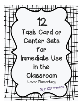 12 Task Card/Center Sets for Immediate Use - Grammar