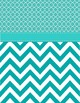 12 Teal Binder Covers, Spine and Back Covers (editable)