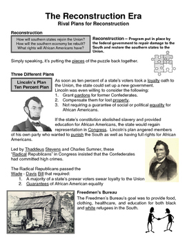 12 - The Reconstruction Era - Scaffold/Guided Notes (Filled-In Only)