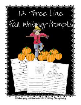 12 Three Line Fall Writing Prompts