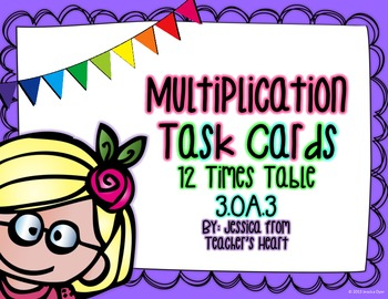 12 Times Table Task Cards
