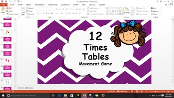 Multiplication 12 Times Tables Game / Brain Break