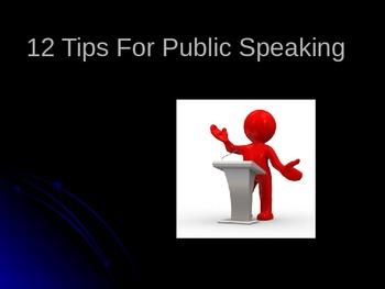 12 Tips For Public Speaking