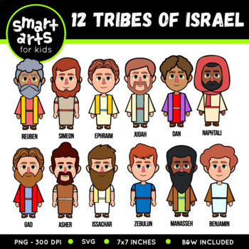 12 Tribes of Israel Clip Art