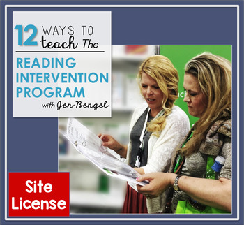 12 Ways to Teach The Reading Intervention Program: Site License