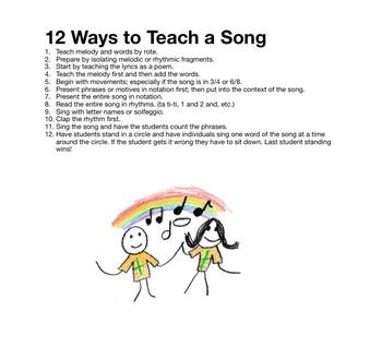 12 Ways to Teach a Song