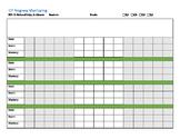 12 Week Progress Monitoring Tracking Form: Editable