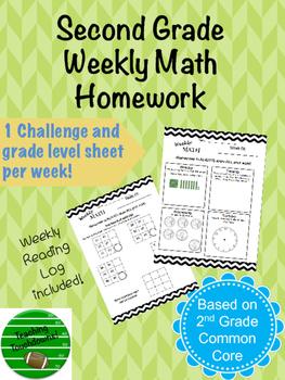 40+ Weeks of Second Grade Homework