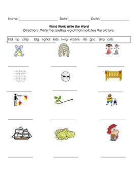 First Grade:  12 Weeks of Word Work Packets