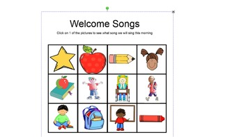 12 Welcome Songs for Smartboard
