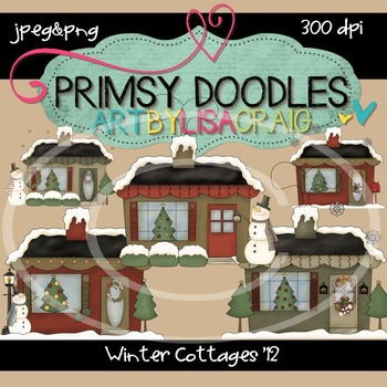 12-Winter Cottages 2 300 dpi clipart