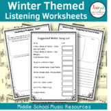 Winter Themed Music Listening Worksheets