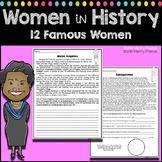 Women's History - 12 Mini-Biography Worksheets Oprah Maya Angelou Jane Goodall