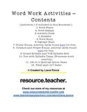 12 Work Work Activities