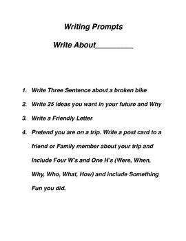 12 Writing Prompts