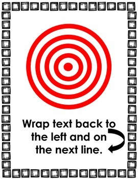 12 Writing Target Goals 8.5 X 11 Posters for Kindergarten and 1st Grade