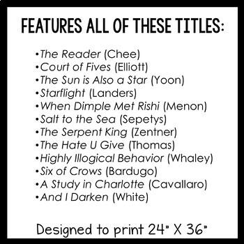 12 YA Quotation Posters & Readalike Bookmarks (Set 2)