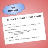 12 Years a Slave - 2013 Film Worksheet (ESL Suitable)