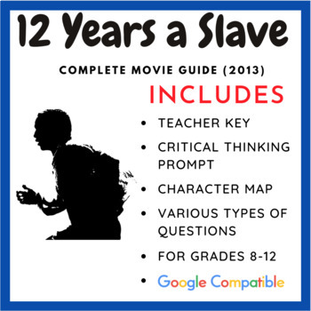 Years A Slave  Complete Movie Guide  Processing Activity  Tpt  Years A Slave  Complete Movie Guide  Processing Activity