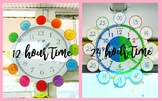 12 and 24 hour clock tabs