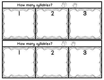 1,2, and 3 Syllable Sort Literacy Center