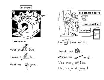 12) bleu-jaune - livret de lecture ENFANT C1 Mat. et 1ère
