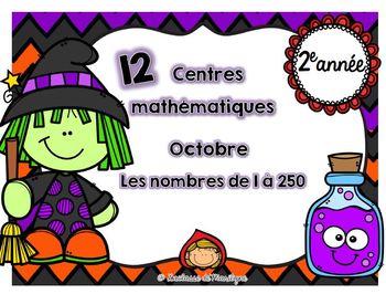 12 centres mathématiques octobre nbr: 1 à 250