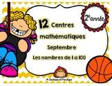 12 centres mathématiques septembre nbr 1 à 100