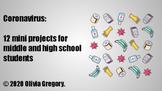12 coronavirus mini projects (middle and high school)