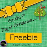 On the 1st Day of Christmas FREEBIE