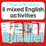 12 days of Christmas English Activities Bundle